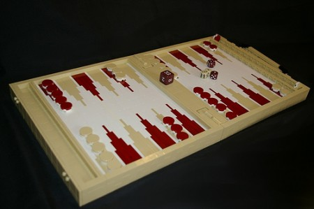 lego backgammon 450x299 LEGO Backgammon Combines a Toy and a Game