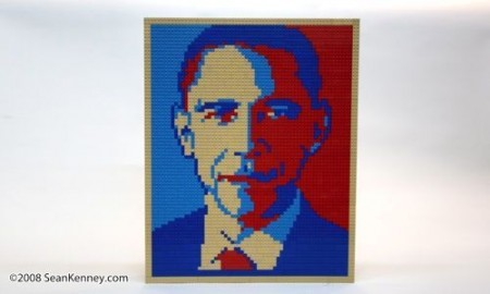 President Obama Portrait in LEGO