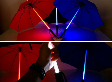 Light Saber Umbrellas Help You Battle the Force of Nature