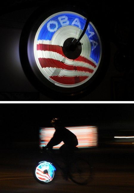 DIY Obama Logo Light Up Bicycle Spoke