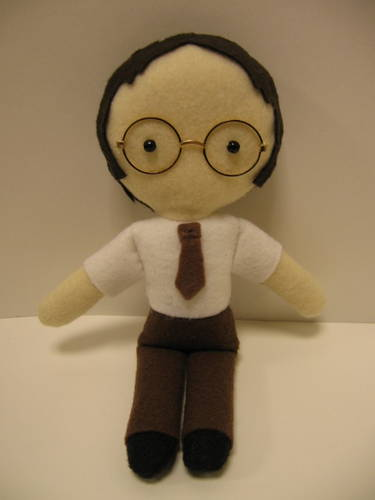 Homemade Dwight Schrute Doll is Assistant to the Regional Manager Doll