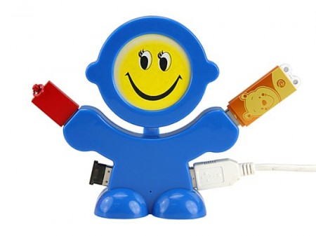 smiling usb hub 450x337 Smiling Face USB Hub is like Prozac for your Desk