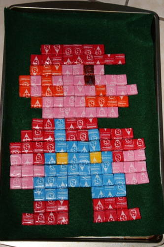 Starburst Pixel Art Mario