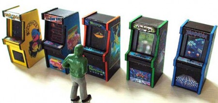 Arcade Video Game Cabinets for Model Railroads