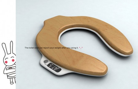 Toilet Seat Scale Measures Your Pre and Post Load Weight