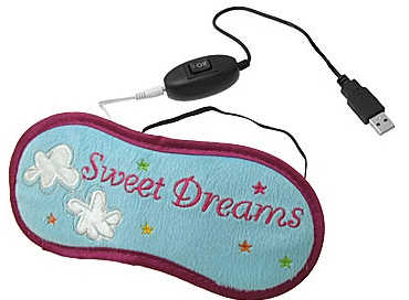 USB Powered Heated Eye Warmer Sleepmask Thing WTF?!