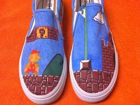 Handpainted Old School Video Game Sneakers