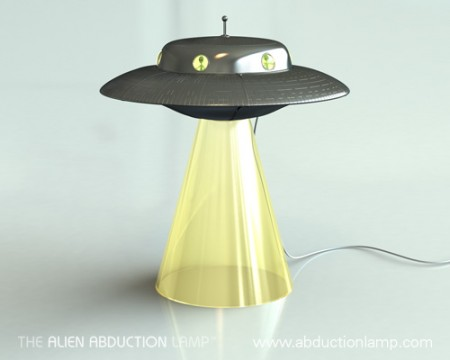 Alien Abduction Lamp is Awesome