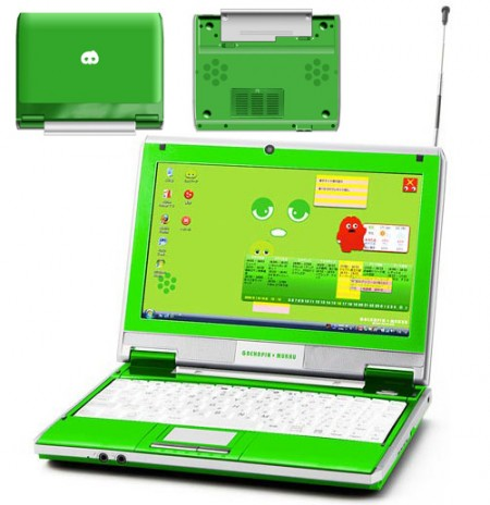 Bandai Netbook Gets Green…Very Green