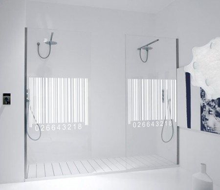 Bar Code Shower Door is Easy to Scan at the Checkout Line