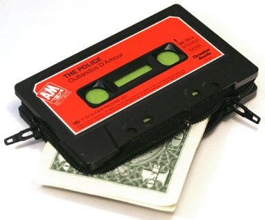Wallets Made from Old Cassette Tapes