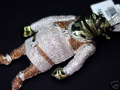 Diamond Covered Shrek Pendant