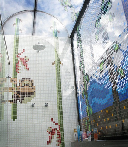 Donkey Kong Junior Tiled Shower