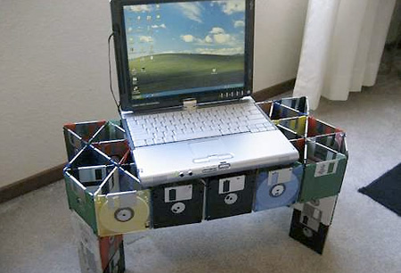 Floppy Disk Laptop Stand