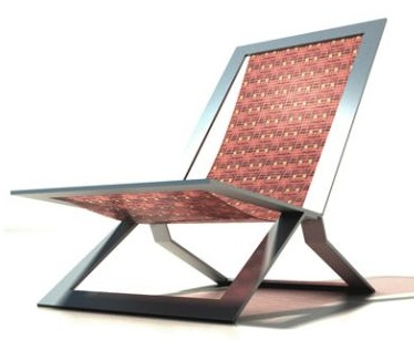 Chair Folds Up to Become a Room Screen