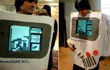 Playable Nintendo Gameboy Tetris Costume!