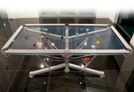 Glass Topped Pool Table Lets You See the Bottom of Your Balls