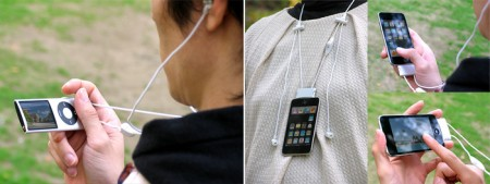 iPod Lanyard Headphone Dock Holds your Device, Keeps Your Hands Free