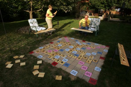 Giant Outdoor Scrabble Board