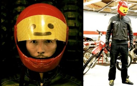 LEGO Minifig Style Motorcycle Helmet
