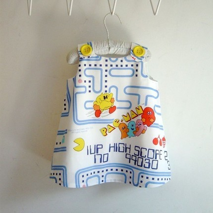 Pac-Man Dress for a Baby Girl