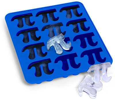 pi ice cube tray 10 Geeky Pi Items to Help Celebrate Pi Day (3.14)