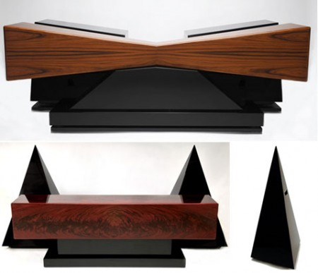 Artsy Pyramid and Butterfly Speakers Exude Class