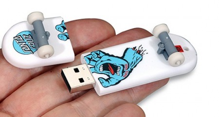 Skateboard USB Drive is Totally Rad