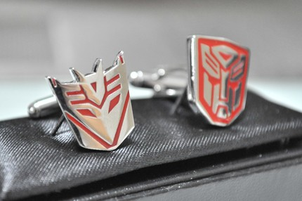 Transformers Cufflinks…Geeks in Disguise
