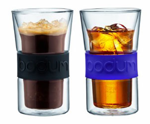 Double Walled Glasses with Silicone Band Keep Your Drink Hot, Hands Cool