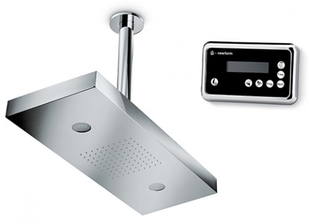 Showerhead with a Remote Keypad and Chromotherapy