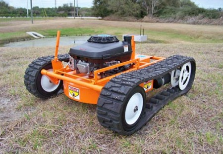 Remote Control Tank Tread Lawnmower