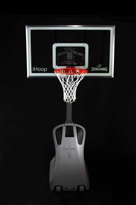 Spaulding iHoop Basketball Hoop has an iPod Dock and Speakers