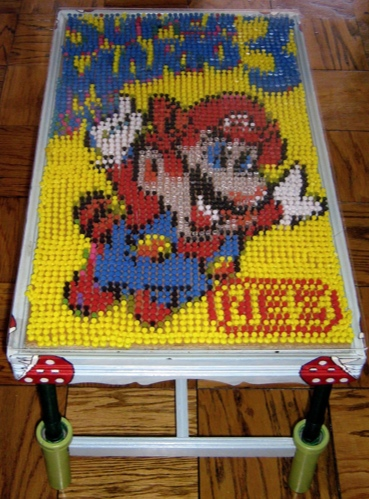 Super Mario Bros. 3 Pushpin Mosaic Coffee Table