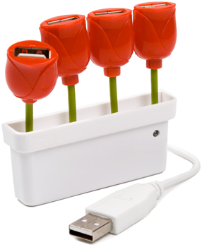 Tulip Shaped USB Hub will Give You Flower Power to your Devices