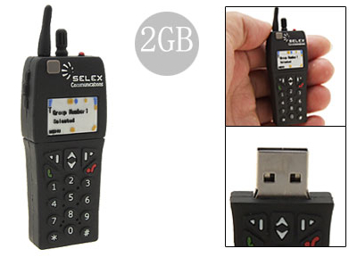 It's a USB Flash Drive Shaped Like a Mini Cellphone