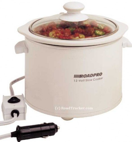12 volt slow cooker crock pot 465x500 Crockpot with Car Adapter for Travelling and Crocking