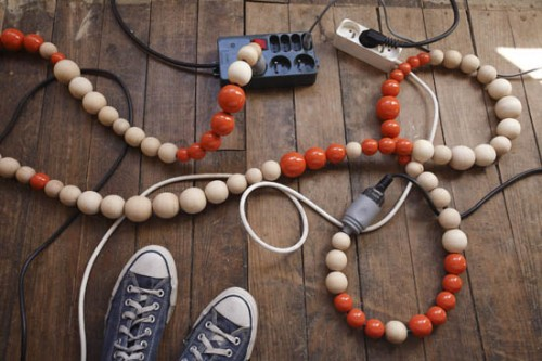 Beaded Extension Cords Get Plugged In