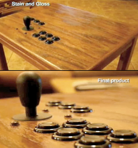 Coffee Table Modded into a Joystick