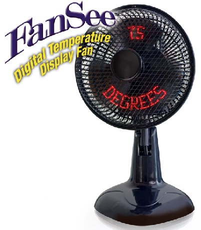 FanSee Displays the Digital Temperature Right in the Fan Blades