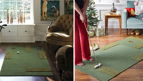 Carpet Tiles Turn Your Home into a Mini-Golf Course