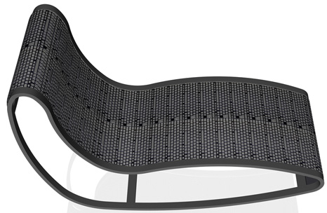 Lounge Chair Made of Recycled Keyboards