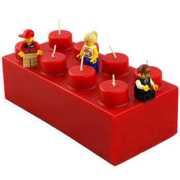 Lego Brick Candles