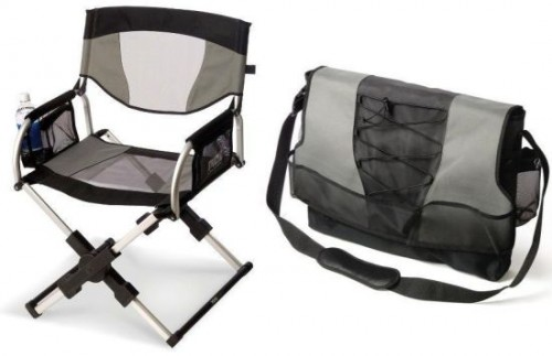 Directors Chair that Folds Down into a Messenger Bag