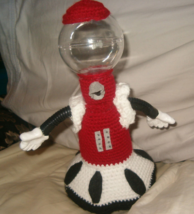 Crochet Tom Servo from Mystery Science Theater 3000