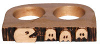 Two Finger Wood Pac-Man Ring