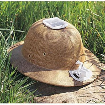Solar Powered Safari Hat will Keep You Cool While Looking…