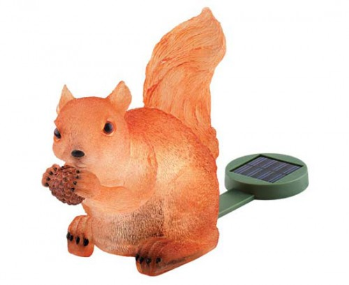 Solar Powered Light Up Squirrel