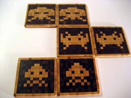 space invaders coasters Pinboard