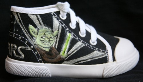 Custom Painted Star Wars High Tops